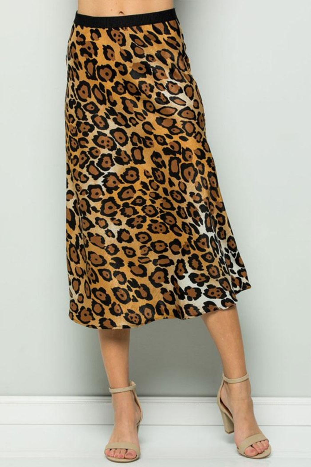 ee:some Leopard Midi Skirt - Main Image