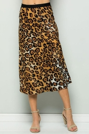 ee:some Leopard Midi Skirt - Front cropped