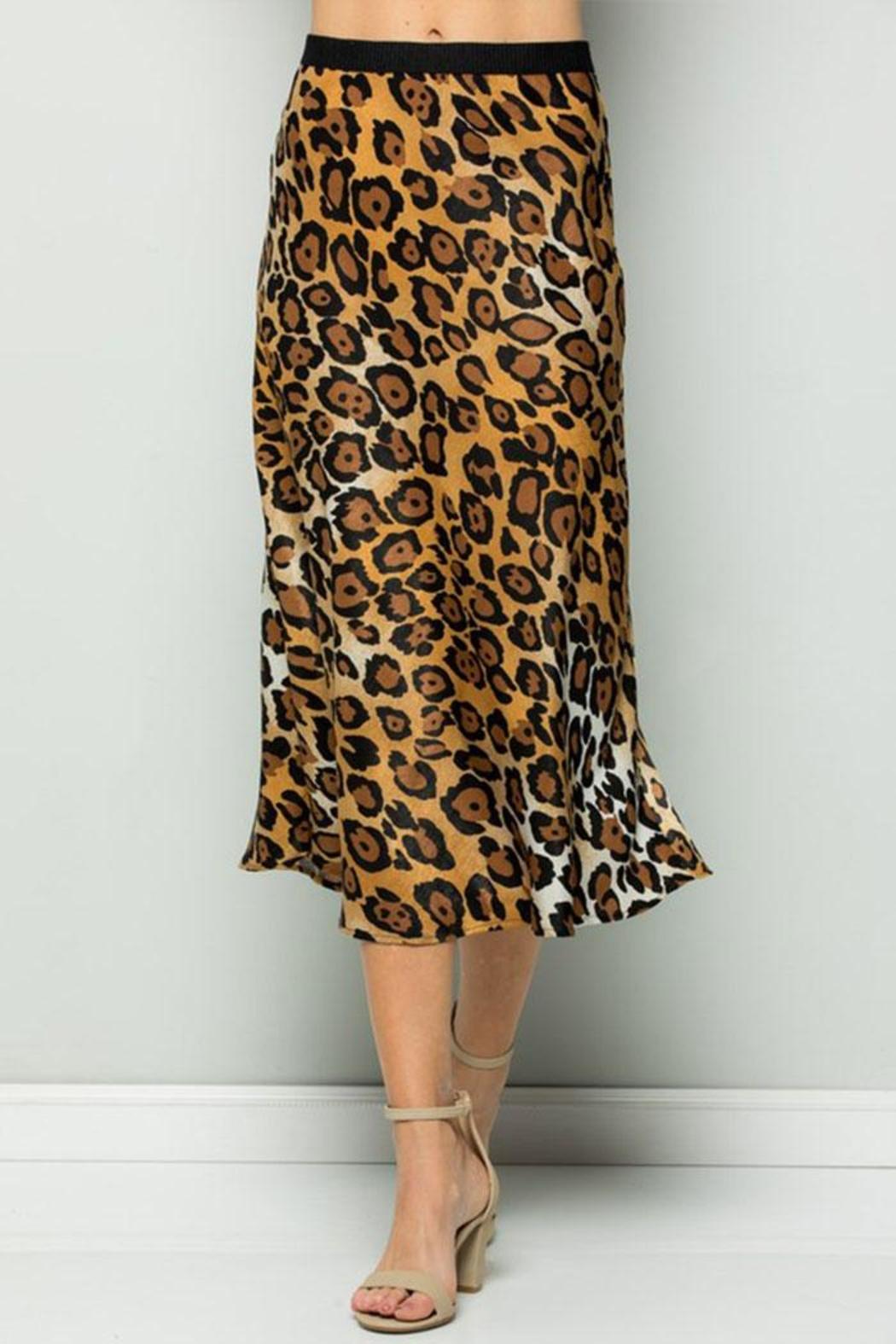 ee:some Leopard Midi Skirt - Front Full Image