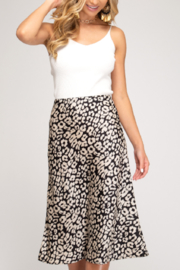 She and Sky Leopard Midi Skirt - Front cropped