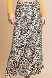 Umgee  Leopard Midi Skirt - Product Mini Image