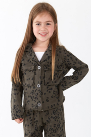 Bella Dahl  Leopard Military Jacket - Product Mini Image