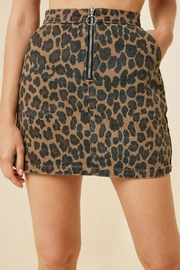 Hayden Los Angeles Leopard Mini Skirt - Product Mini Image