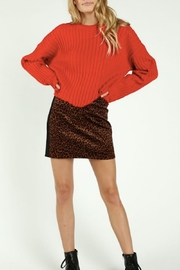 Wild Honey Leopard Mini Skirt - Product Mini Image