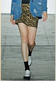 Nicole Miller Leopard Mini Skirt - Product Mini Image