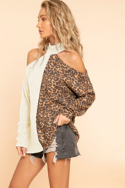 Blue Buttercup Leopard Mix Match Solid Top - Product Mini Image