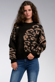 Elan  Leopard Mock Neck - Product Mini Image