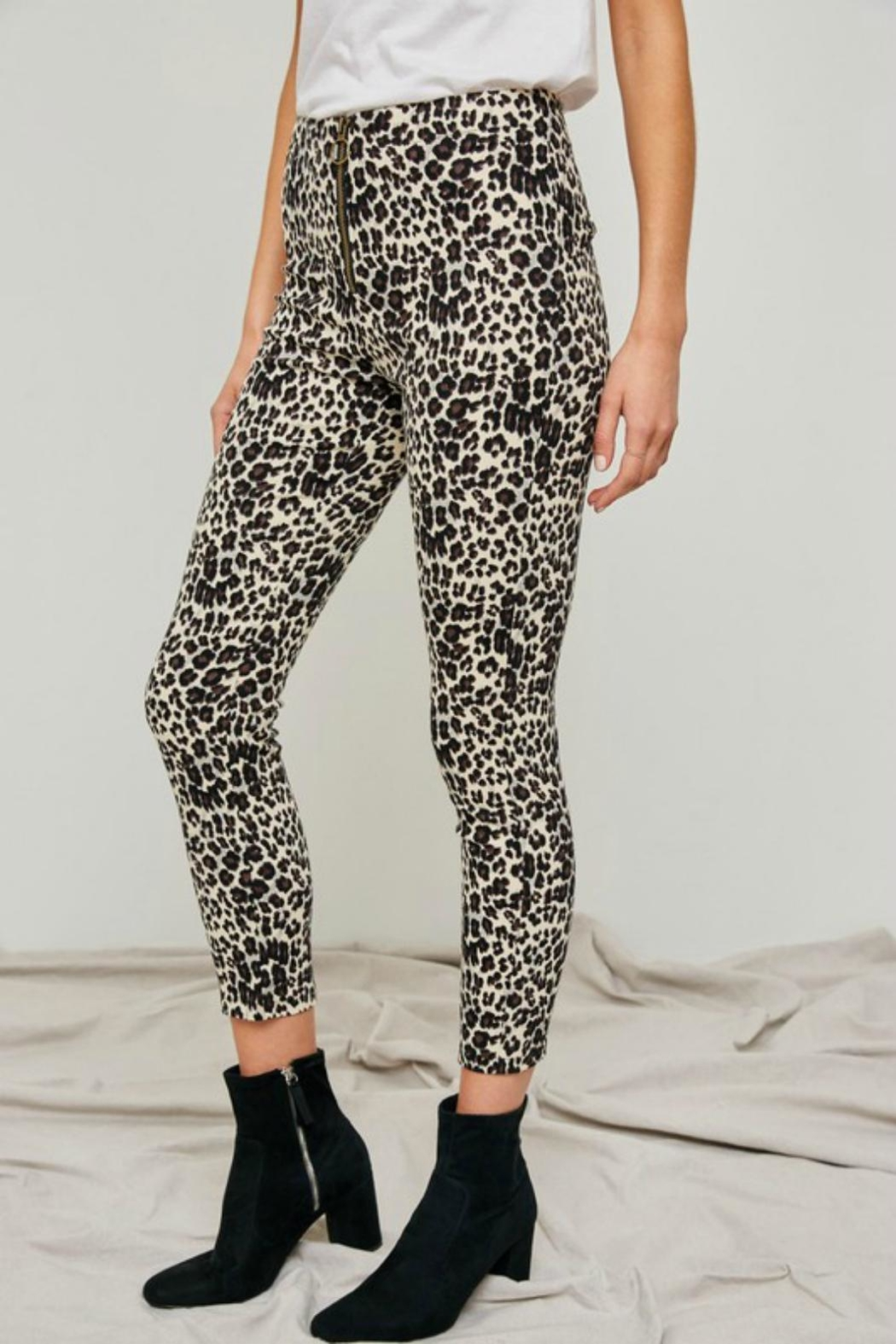 Pretty Little Things Leopard O-Ring Pants - Main Image