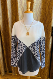 Tracie's Leopard Off the Shoulder Top - Product Mini Image