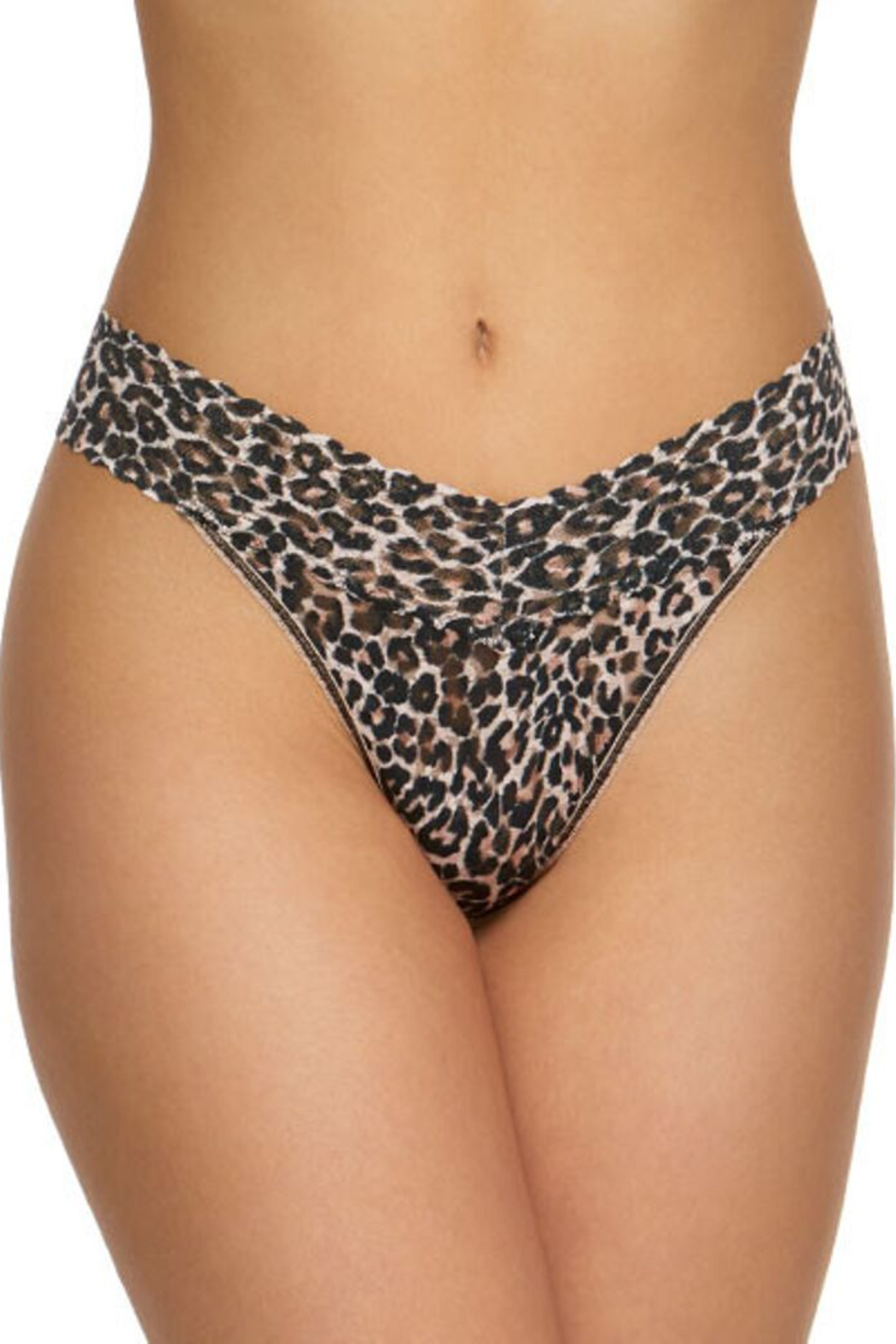 Hanky Panky Leopard Original Rise Thong - Front Cropped Image