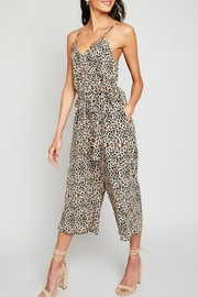 Hayden Los Angeles Leopard Palazzo Jumpsuit - Front cropped