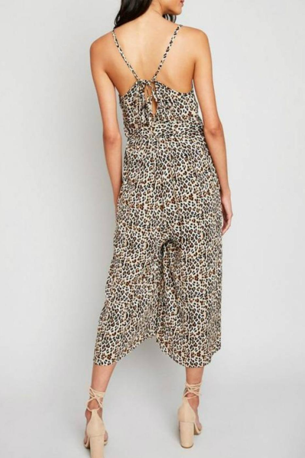 Hayden Los Angeles Leopard Palazzo Jumpsuit - Front Full Image