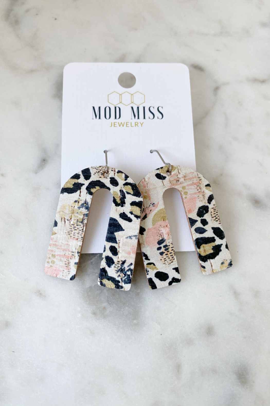 Mod Miss Jewelry  Leopard & Pansies Earring - Main Image
