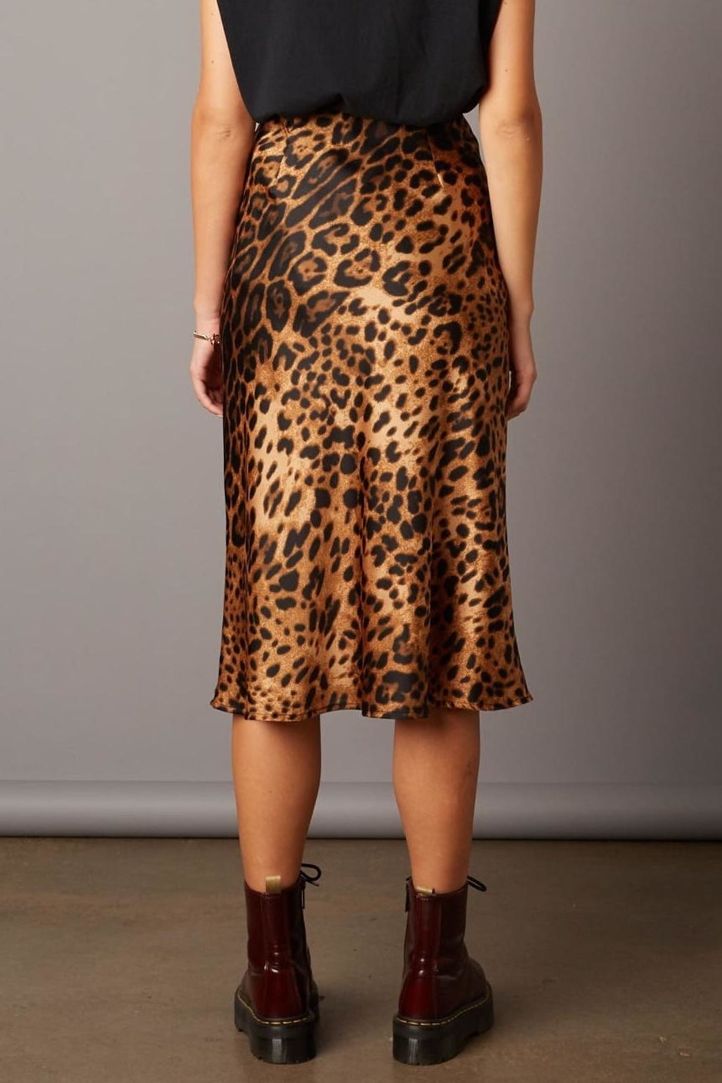 Cotton Candy Leopard Skirt - Front Full Image