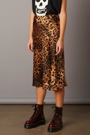 Cotton Candy Leopard Skirt - Front cropped