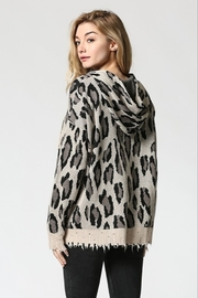 FATE by LFD Leopard patterened hoodie sweater - Front full body