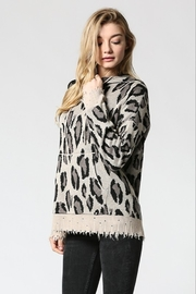 FATE by LFD Leopard patterened hoodie sweater - Product Mini Image