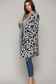 Fate Leopard Patterned Hooded Cardigann - Side cropped