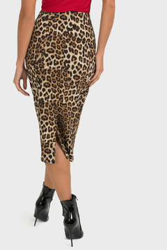 Joseph Ribkoff Leopard Pencil Skirt - Alternate List Image