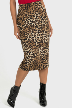 Joseph Ribkoff Leopard Pencil Skirt - Product List Image