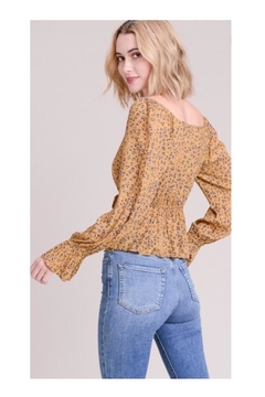 Le Lis Leopard Peplum Top - Alternate List Image