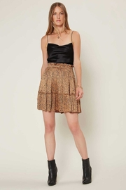 Current Air  Leopard Pleated Mini Skirt - Front cropped