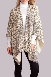 Simply Noelle Leopard Poncho Wrap - Product Mini Image