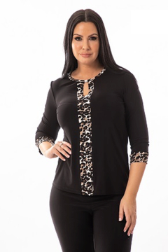 Bali Corp. Leopard Print 3/4 Sleeve Top Bali 7358 - Alternate List Image