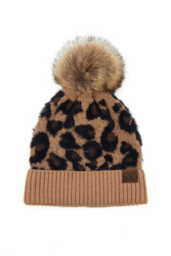 C.C. Leopard Print Beanie - Alternate List Image