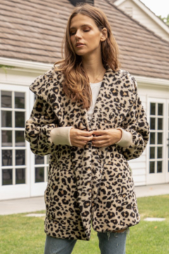 Shoptiques Product: Leopard Print Bear Coat