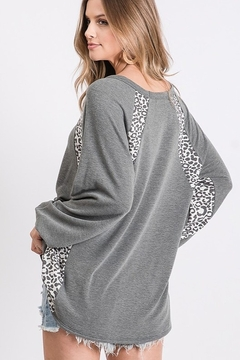 First Love Leopard Print Block Top - Alternate List Image