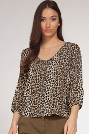 Dex Clothing Leopard Print Blouse - Product Mini Image