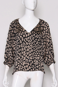 Tyche Leopard Print Blouse - Alternate List Image