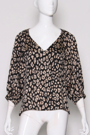Tyche Leopard Print Blouse - Product Mini Image