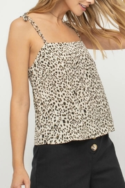 Pretty Little Things Leopard Print Cami - Front cropped