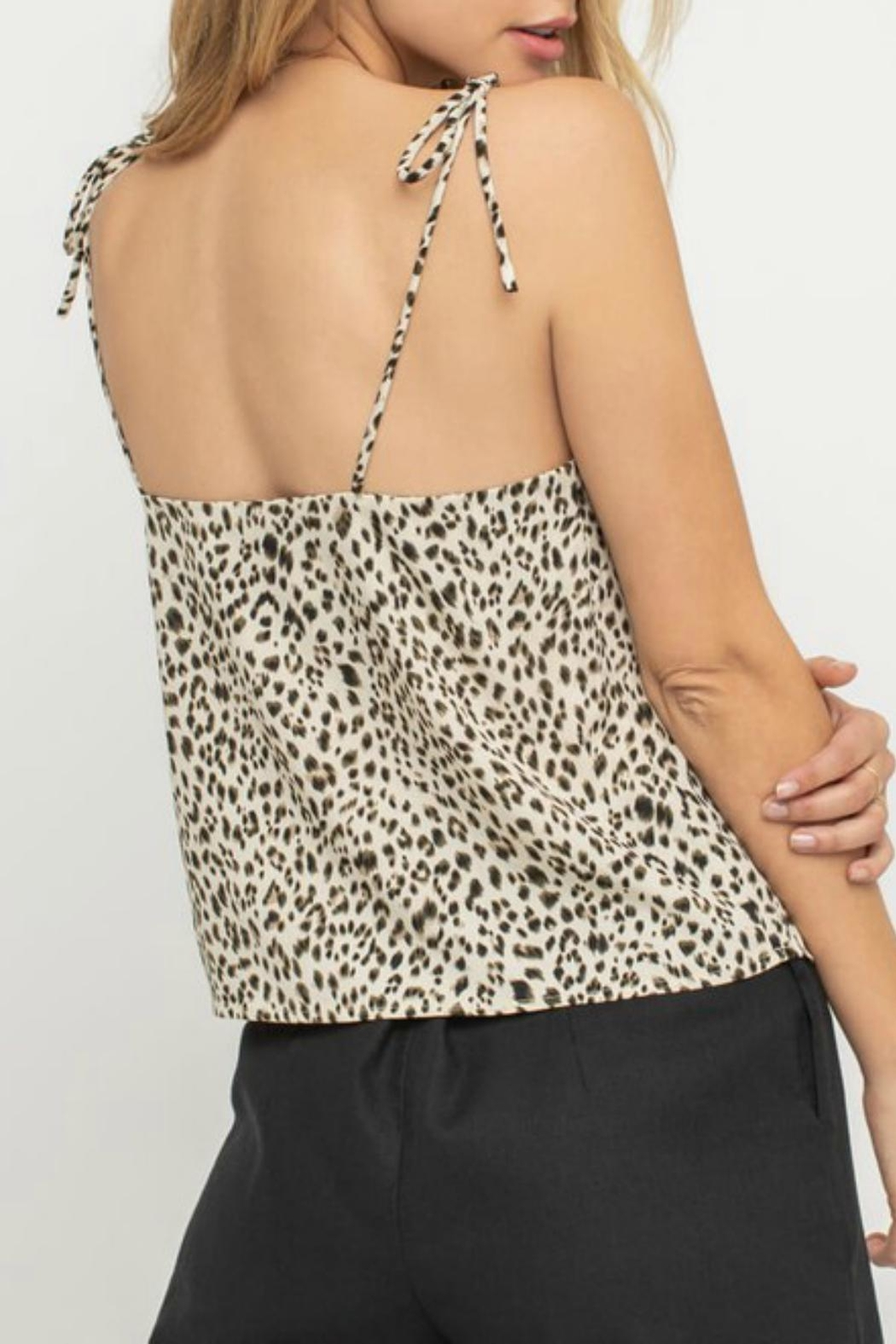 Pretty Little Things Leopard Print Cami - Front Full Image