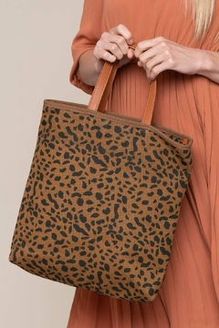 Street Level Leopard-Print Canvas Tote - Alternate List Image