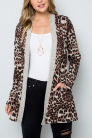 Lyn-Maree's  Leopard Print Cardi - Front cropped