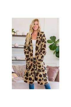 The Birds Nest LEOPARD PRINT CARDIGAN - Product List Image