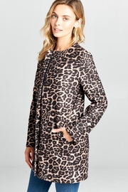 Racine Leopard Print Coat - Product Mini Image