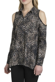 Lysse Leopard Print Cold Shoulder Top - Product Mini Image