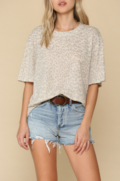 By Together  Leopard print crew neck top - Product List Image