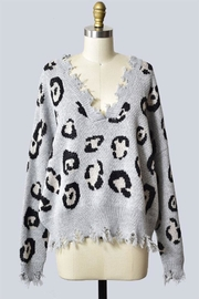 Miracle Leopard Print Destroyed-Sweater - Product Mini Image