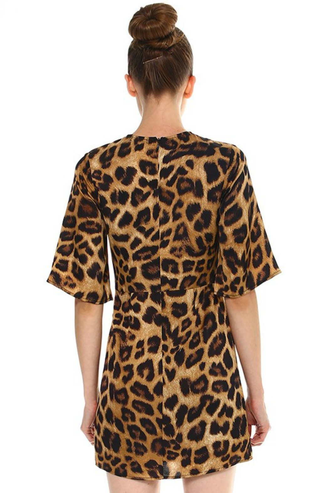 TCEC Leopard Print Dress - Front Full Image