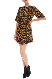 TCEC Leopard Print Dress - Back cropped