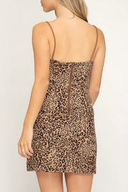 She + Sky Leopard Print Dress - Front full body