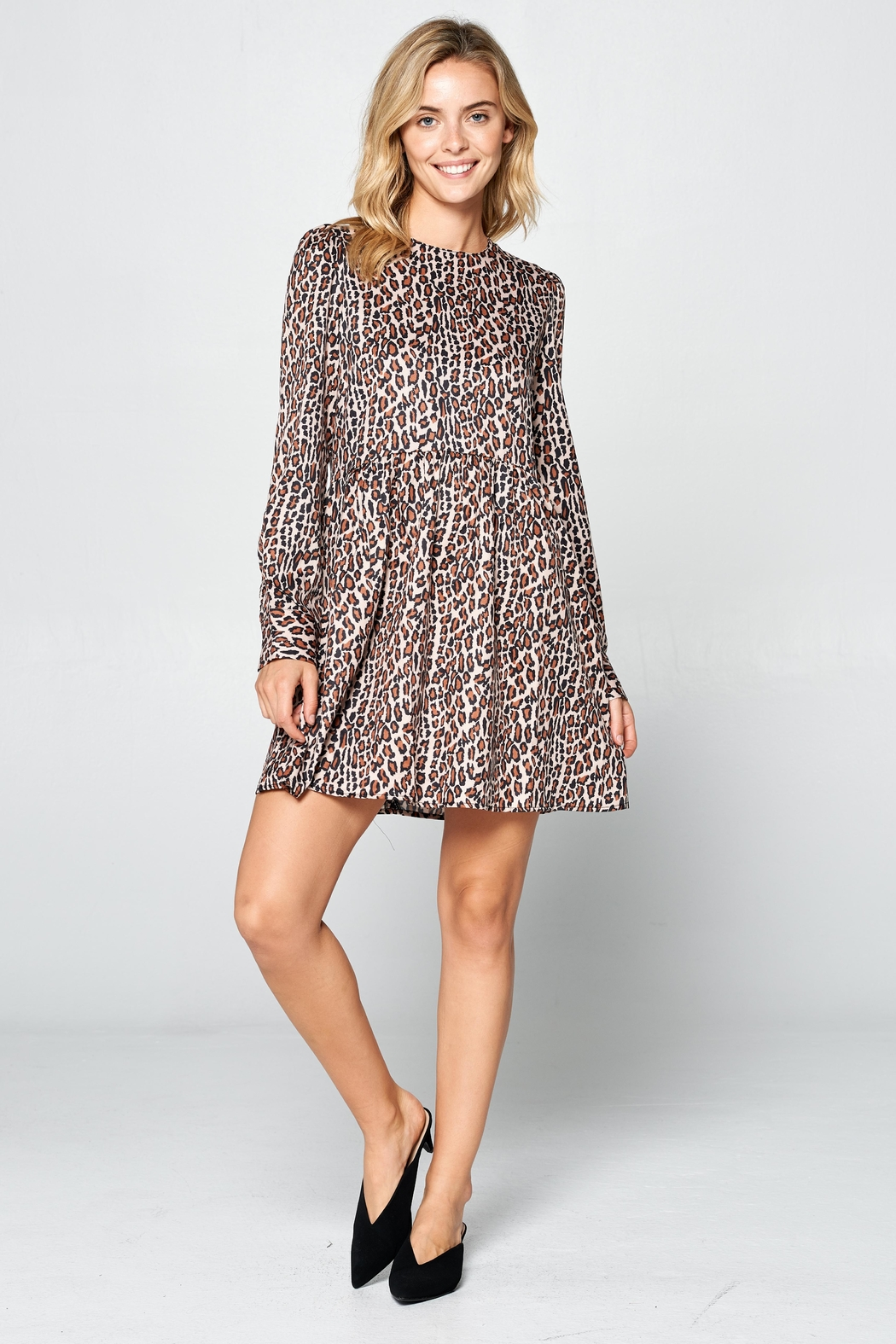 Racine Leopard Print Dress - Front Full Image
