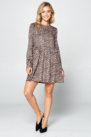 Racine Leopard Print Dress - Front full body