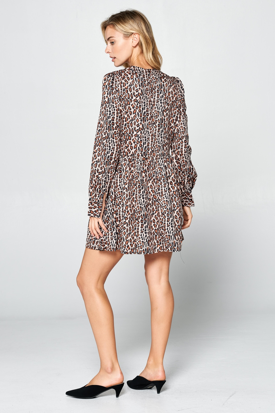 Racine Leopard Print Dress - Side Cropped Image