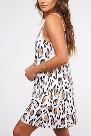 Peach Love California Leopard Print Dress - Side cropped